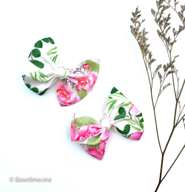 midi bow ponytail hairband roses and peonies