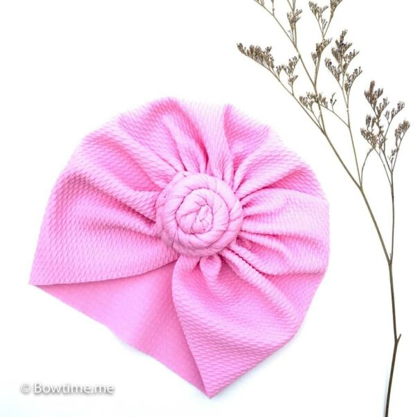 twisted turban baby pink