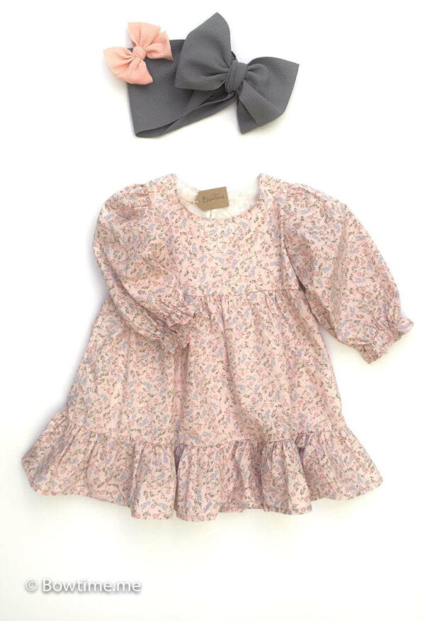 bowtime dainty dress pink